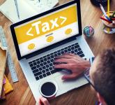 Tax written on computer