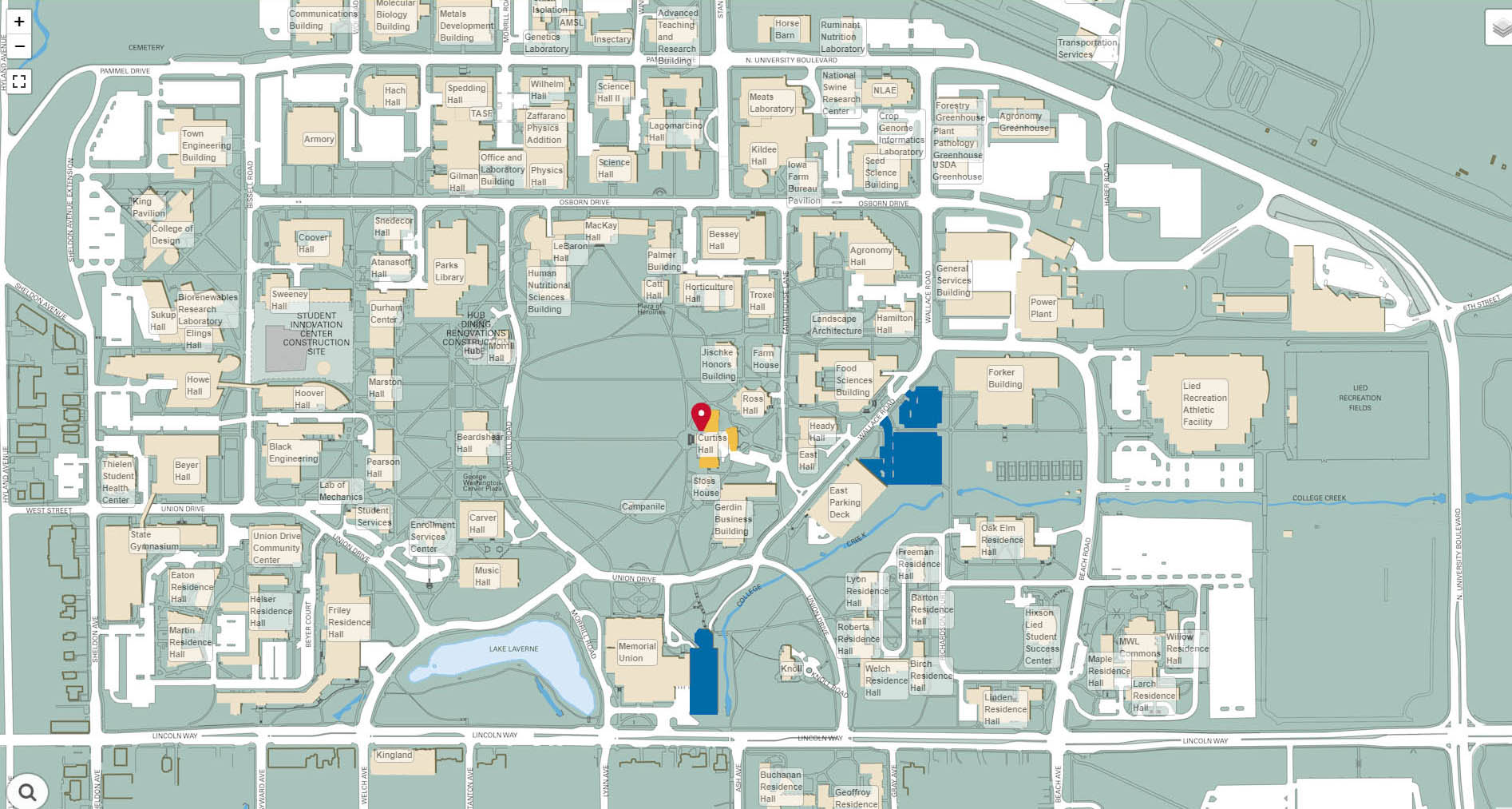 Iowa State University campus map